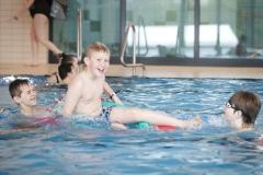 Panoramabad Pappelsee - Neueröffnung des Freizeit- & Familienbades in Kamp-Lintfort - erstes Anschwimmen mit 199 Badegästen und Comedian Bademeister Schaluppke am Samstag, den 15. April 2012