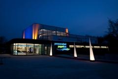 Panoramabad Pappelsee - Neueröffnung des Freizeit- & Familienbades in Kamp-Lintfort mit Synchronschmimmern des TSV Solingen, Turmspringern und Comedian Bademeister Schaluppke am Samstag, den 14. April 2012