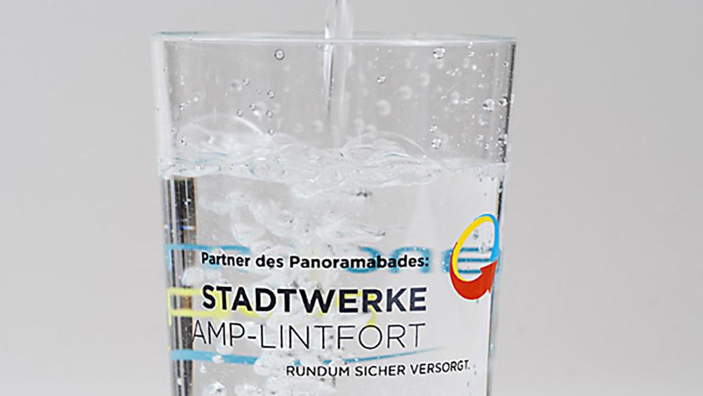 Wasserglas Stadtwerke